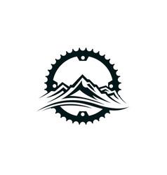 Mountain bike emblem vector