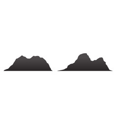 mountain silhouettes overlook rocky hills vector image
