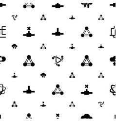 networking icons pattern seamless white background vector image