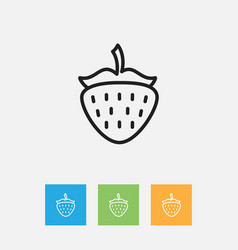 of kitchenware symbol on berry vector image