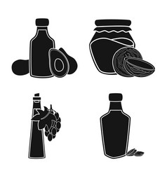 oil and agriculture symbol vector image