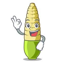 Okay bacorn isolated with mascot vector