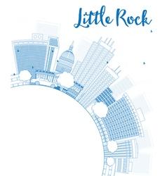 Outline little rock skyline vector