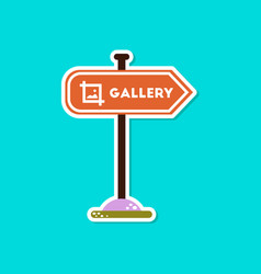 paper sticker on stylish background sign gallery vector image