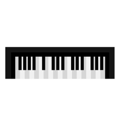 Piano keyboard music instrument icon design vector