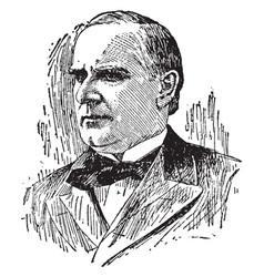 President william mckinley vintage vector