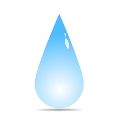 raindrop icon vector image