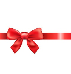 Red Bow vector image