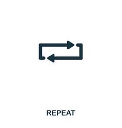repeat icon line style icon design ui vector image