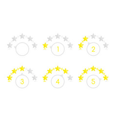 round star rating vector image