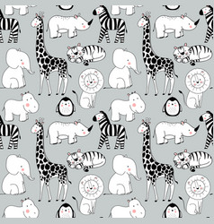 Safari animals pattern vector