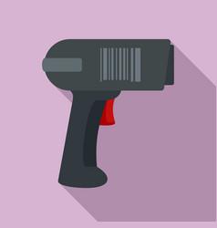 Scan pistol icon flat style vector