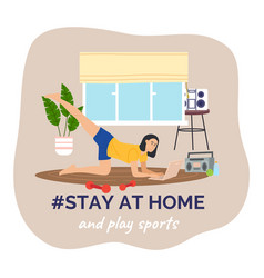 self isolation stay at home concept young person vector image