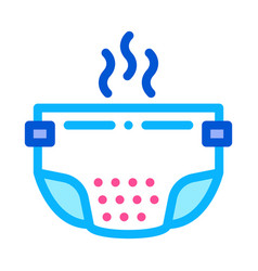 smelly diaper icon outline vector image