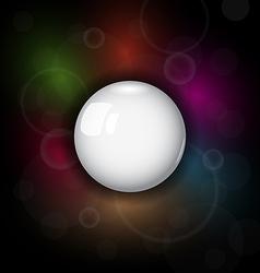 speech bubble on dark background vector image