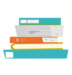 Stack papers and folders vector