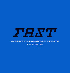 stock italic slab serif font vector image