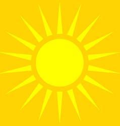 sun symbol over orange backdrop summer background vector image