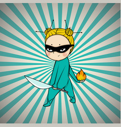 Super hero chef of japanese cuisine vector