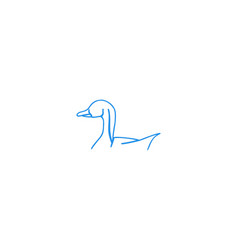 swan mono line logo designs inspiration isolated vector image