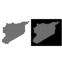 Syria map hex tile mosaic vector