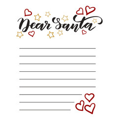 template letter to santa vector image