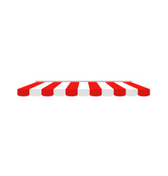 tent shop awning on cafe romarketplace vector image