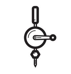 Thin line hoist icon vector