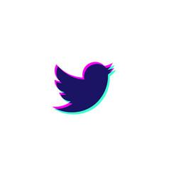 tweeter icon symbol logo element isolated vector image