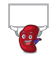 Up board spleen character cartoon style vector