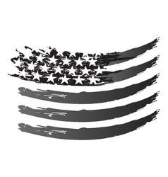 usa flag grayscale vector image
