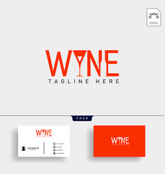wine and bar type logo template vector image