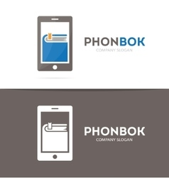 Book and phone logo combination novel and vector