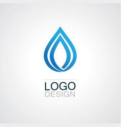drop water ecology logo vector image