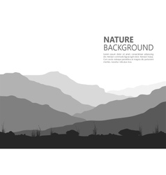 Landscape with huge mountains vector image vector image