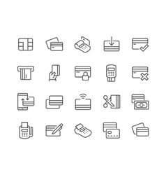 Line Credit Card Icons vector image vector image