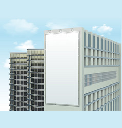Building Wall Ad Space Composition vector image