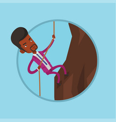 business man climbing on the mountain vector image vector image