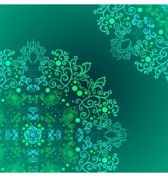 Emerald floral background ethnic ornament vector image
