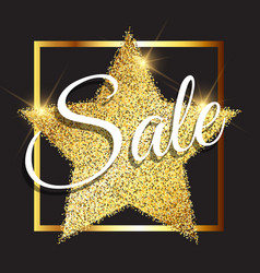 glittery sale background vector image vector image
