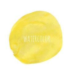 Pastel Watercolor Blob vector image