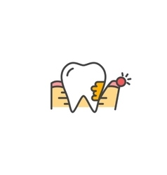 Periodontitis icon vector