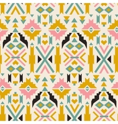 Seamless colorful aztec pattern White background vector image