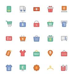 Shopping icons 8 vector