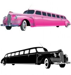 stretch limos vector image vector image