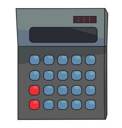 cartoon image of calculator icon mathematics vector image vector image