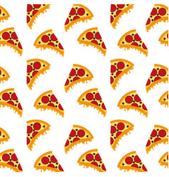 fast food pizza seamless pattern vector image