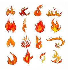 Fire icon sketch vector image