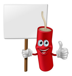 fireworks man holding a sign vector image