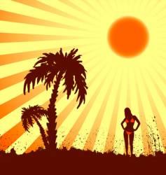 hot summer vector image vector image